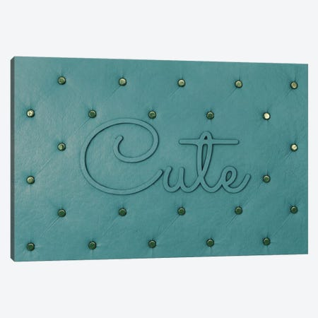 Cute Teal Canvas Print #LFA5} by 5by5collective Canvas Print