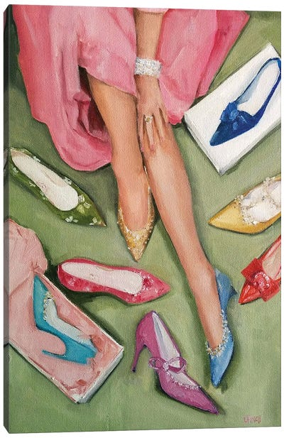 Candy's Coloured Shoes Canvas Art Print