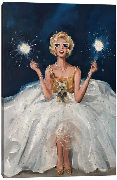 Sparklers Canvas Art Print