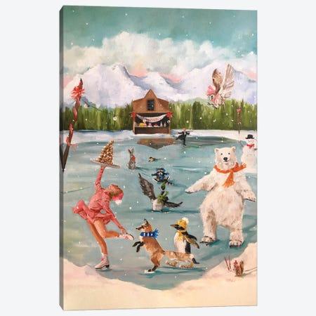 Winter Fun Canvas Print #LFC30} by Lisa Finch Canvas Art