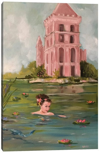 The Pink Sand Castle Canvas Art Print