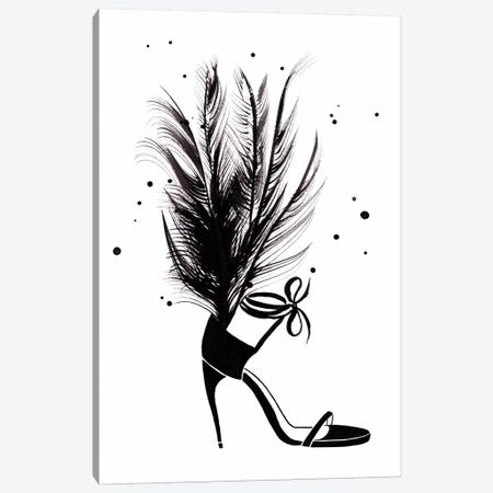 YSL Feather Heel Canvas Print #LFJ100} by La femme Jojo Canvas Print