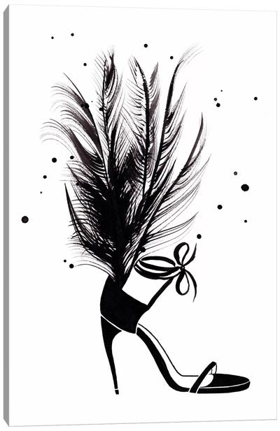 YSL Feather Heel Canvas Art Print