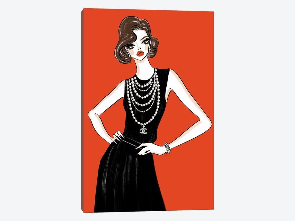 Chanel Femme Rouge 1-piece Canvas Art Print