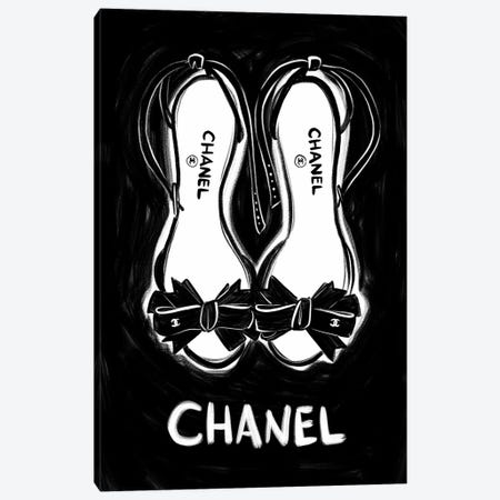 Chanel Shoes Canvas Print #LFJ108} by La femme Jojo Canvas Print