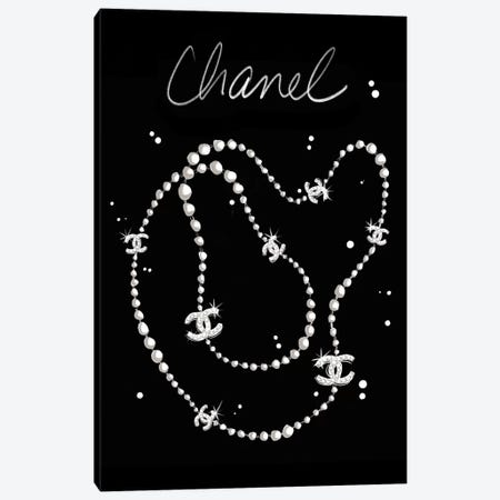 Chanel Necklace Canvas Print #LFJ109} by La femme Jojo Canvas Print