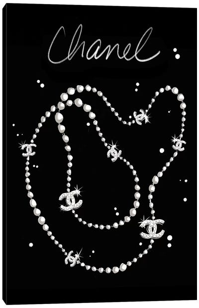Chanel Necklace Canvas Art Print