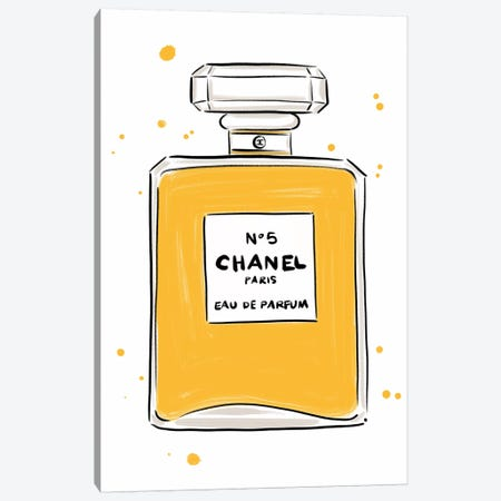 Chanel No 5 Canvas Print #LFJ111} by La femme Jojo Canvas Artwork