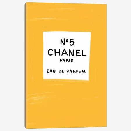 No 5 Chanel Canvas Print #LFJ112} by La femme Jojo Canvas Art