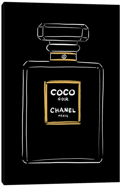 Chanel Coco Noir Canvas Art Print