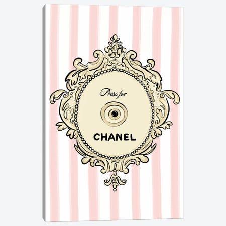 Press for Chanel Canvas Print #LFJ116} by La femme Jojo Art Print