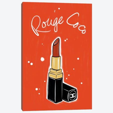 Chanel Rouge Coco Lipstick Canvas Print #LFJ117} by La femme Jojo Art Print