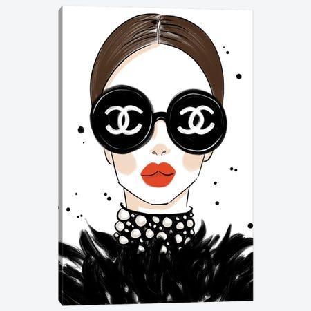 Chanel Sunglasses Canvas Print #LFJ118} by La femme Jojo Canvas Art