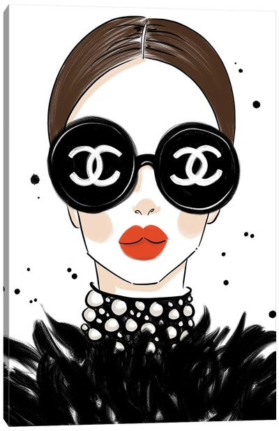Chanel Sunglasses Canvas Art Print
