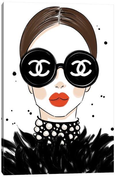 Chanel Sunglasses Canvas Art Print
