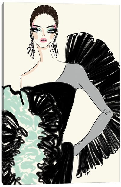 Coco Rocha In Ruffles Canvas Art Print