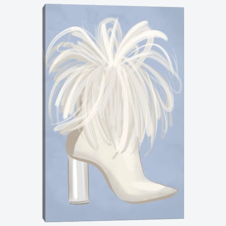 Feather Boot Canvas Print #LFJ12} by La femme Jojo Art Print