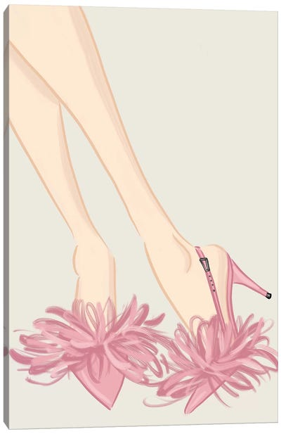 Feather Heels Canvas Art Print