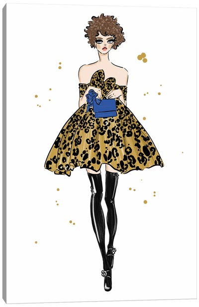 Leopard Dress Canvas Art Print