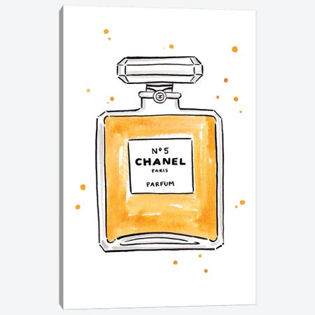 Chanel Perfume Canvas Print #LFJ16} by La femme Jojo Canvas Artwork