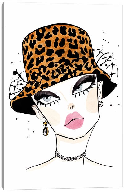 Christian Dior Leopard Canvas Art Print