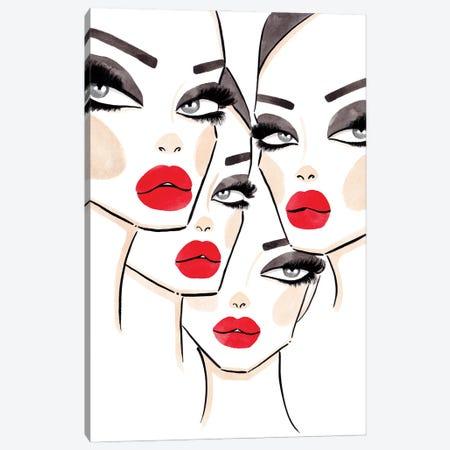 4 Faces Canvas Print #LFJ1} by La femme Jojo Canvas Art Print