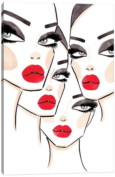 4 Faces Canvas Art Print