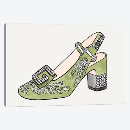 Gucci Shoe Canvas Print #LFJ30} by La femme Jojo Art Print