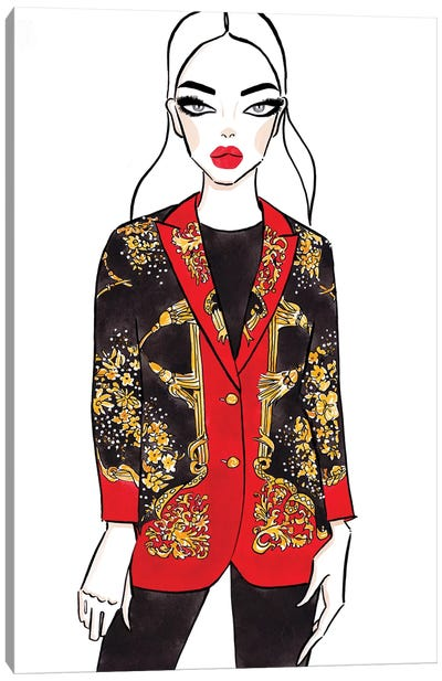 Gucci Blazer Canvas Art Print