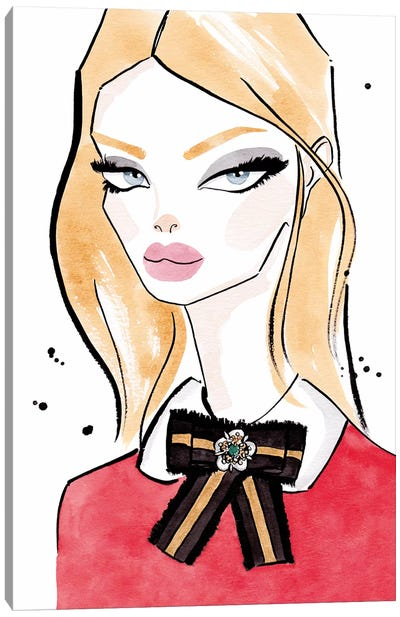 Gucci Bow Blonde Canvas Art Print