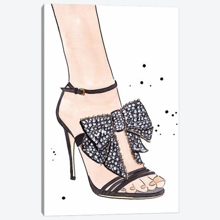 Gucci Bow Heel Canvas Print #LFJ37} by La femme Jojo Canvas Artwork