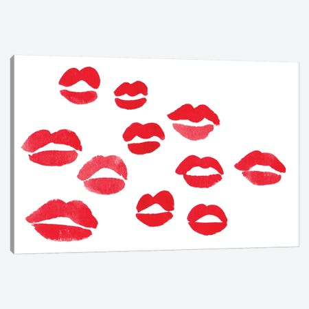 Kisses Canvas Print #LFJ42} by La femme Jojo Canvas Wall Art