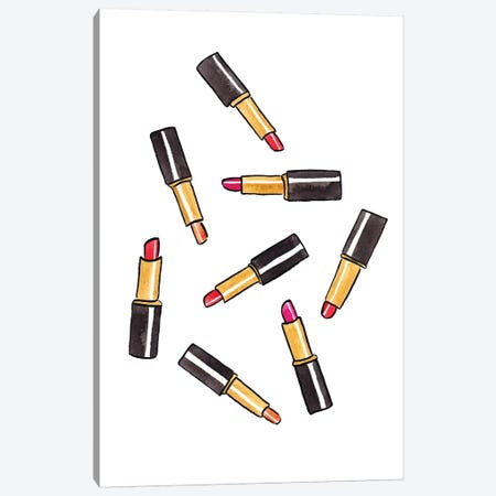 Lipsticks Canvas Print #LFJ57} by La femme Jojo Canvas Art