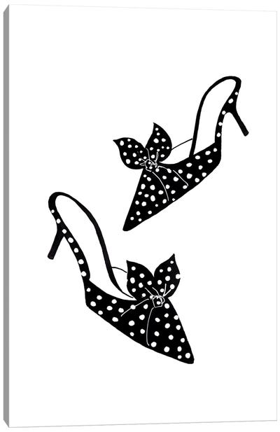 Polka Dot Shoes Canvas Art Print