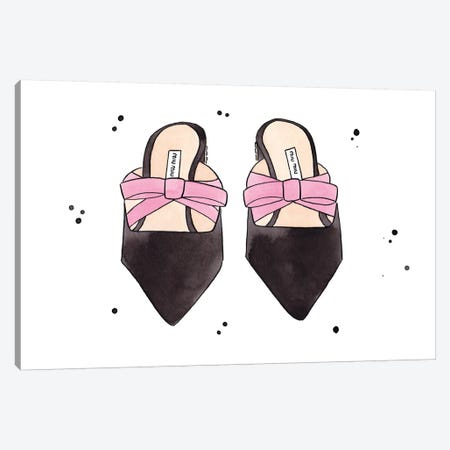 Miu Miu Shoes Canvas Print #LFJ61} by La femme Jojo Canvas Wall Art