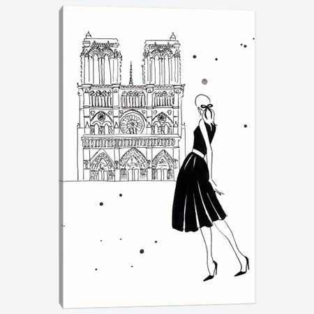 Notre Dame Canvas Print #LFJ64} by La femme Jojo Canvas Art Print