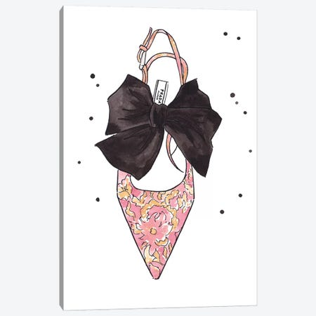 Prada Bow Show Canvas Print #LFJ72} by La femme Jojo Canvas Art Print