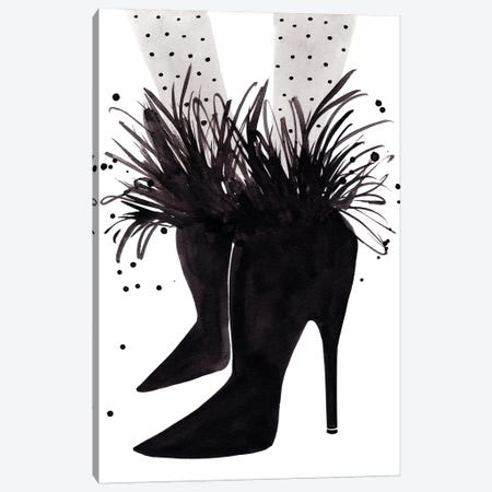 Saint Laurent Boots Canvas Print #LFJ82} by La femme Jojo Canvas Artwork