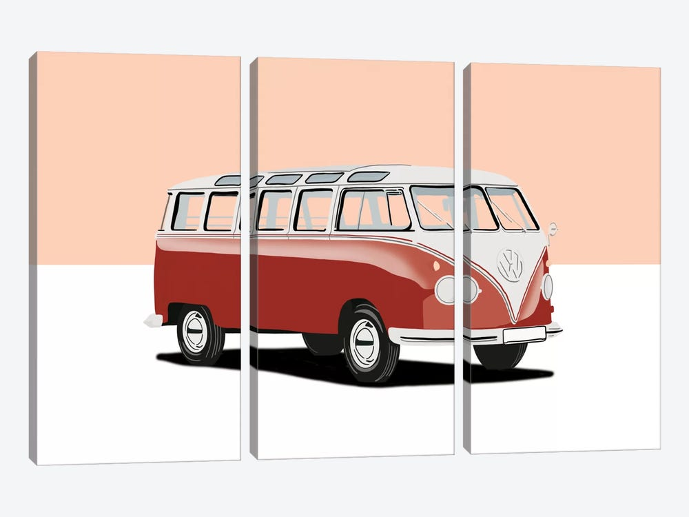 Camping In Style by 5by5collective 3-piece Canvas Print