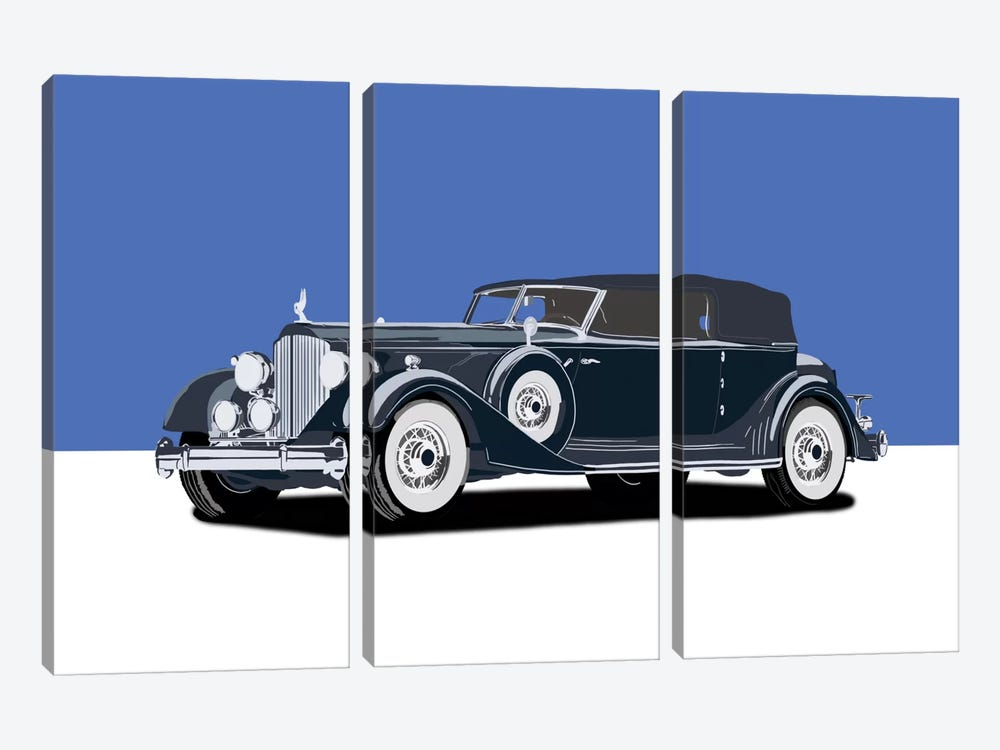 Ride Down Memory Lane by 5by5collective 3-piece Canvas Art