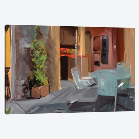 Brady Bunch Patio Canvas Print #LFN11} by Liz Frankland Art Print