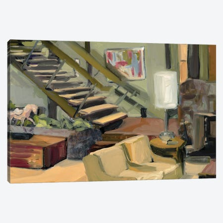 Brady Bunch Living Room Canvas Print #LFN13} by Liz Frankland Canvas Art Print