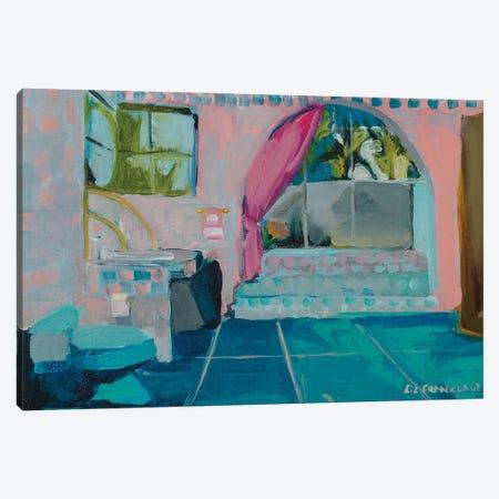 Golden Girls Bathroom Canvas Print #LFN8} by Liz Frankland Canvas Art Print