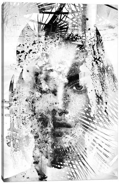 Epoch In Black & White Canvas Art Print