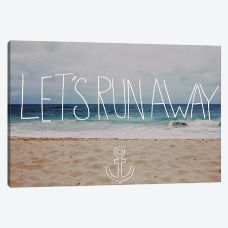 Let's Run Away - To the Sea Canvas Print #LFS13} by Leah Flores Canvas Wall Art