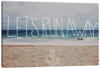 Let's Run Away - To the Sea by Leah Flores Canvas Wall Art