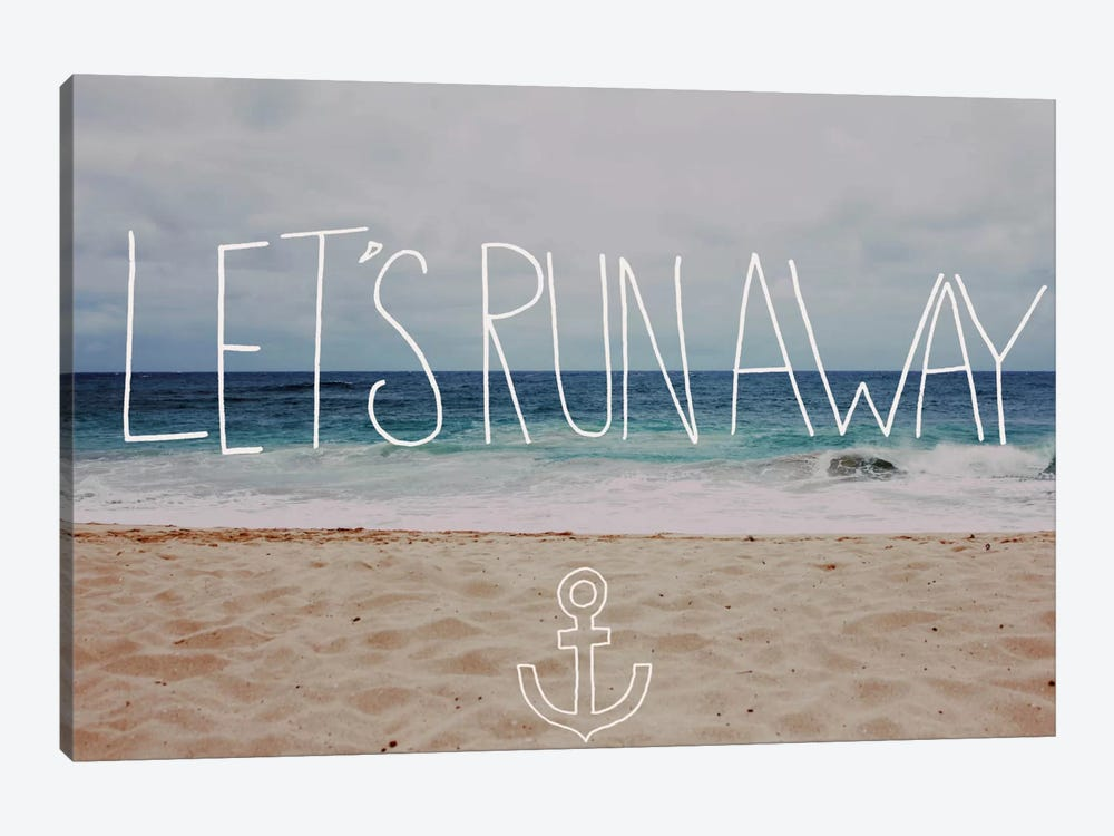 Let's Run Away - To the Sea by Leah Flores 1-piece Art Print