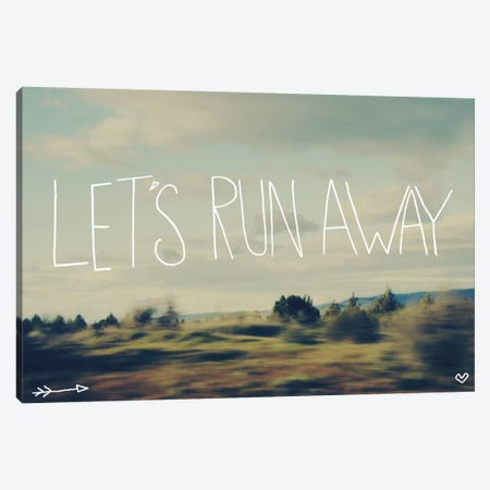 Let's Run Away Canvas Print #LFS14} by Leah Flores Art Print