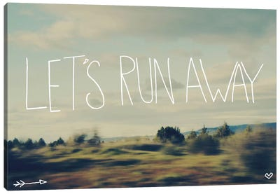 Let's Run Away Canvas Art Print