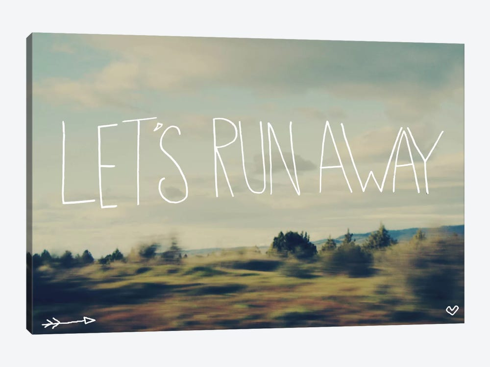Let's Run Away by Leah Flores 1-piece Canvas Wall Art